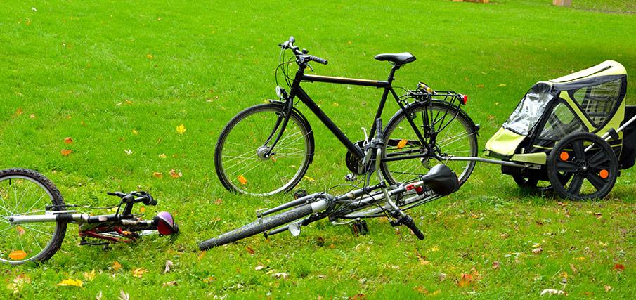 Testa cykelvagn till dagis